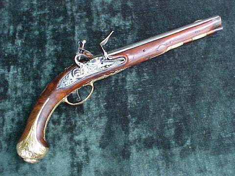 Large Dutch Flintlock Holster Pistol by G. RENNOIS, #2555 Firearms