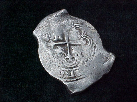 Spanish New World Silver 8 Reales COB, MEXICO, P, PHILIP IV, #2568 From The Shipwreck CONCEPCION 1641