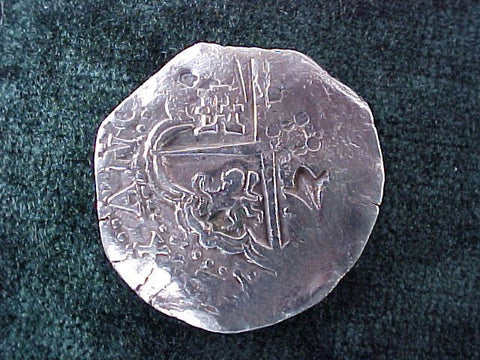 Spanish New World Silver Counterstruck 8 Reales COB, POTOSI. Philip II-III, #2598 Colonial Coins