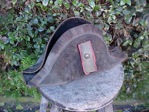 Early 19th Century American 2-Point Officer's Hat, #2624 Militaria