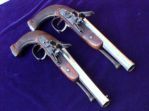 (PAIR) of French Napoleonic War/War of 1812 Period Flintlock Officer's Pistols that were surrendered, #2654 Firearms