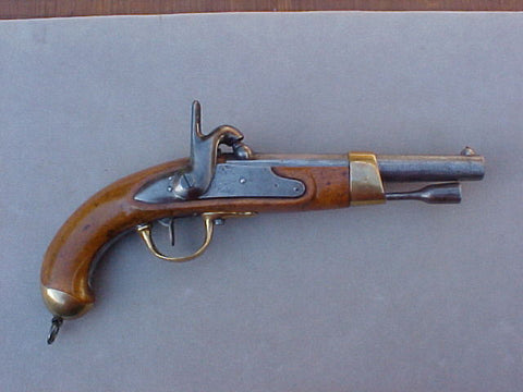 French Military Model Year 'An XIII' Flintlock Service Pistol Converted to Percussion, #2663 Firearms