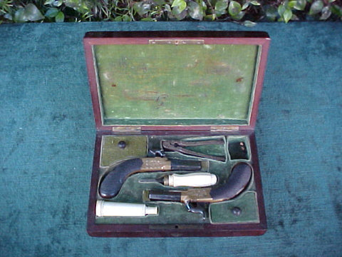 A Good Cased Pair of English Percussion Pocket Pistols, #2683 Firearms