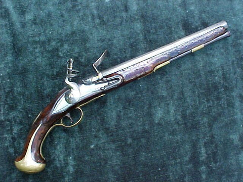 British Military Contract Heavy Dragoon Flintlock Pistol, J WATKIN, LONDON
