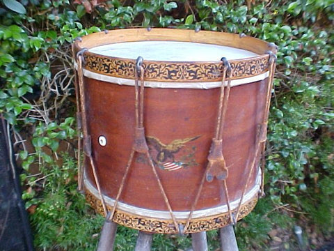 A Fine Civil War Era Military Federal Snare Drum, #2803 Militaria