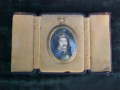 Miniature Portrait on Ivory of Vlad the Impaler, Dracula, #2814 Antiquery