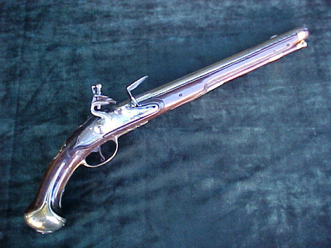A Large Flintlock Holster/Belt Pistol, #2819 Firearms