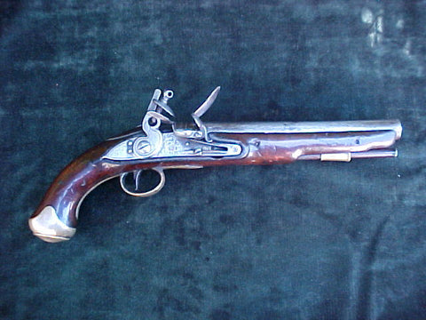British Military Light Dragoon Flintlock Pistol w/22nd L D Regimental Marks, #2821 Firearms