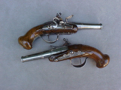 A Fantastic Pair of French Flintlock Pocket Pistols, #2897 Firearms
