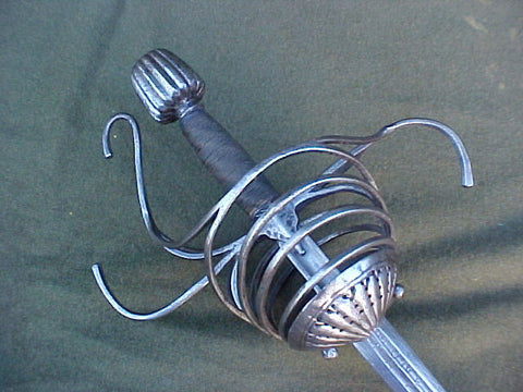 A Rare Italian Multi-Ring Rapier, #2964 Edged Weapons