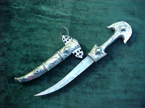 A Moroccan Koummya Belt Dagger, #2966 Edged Weapons