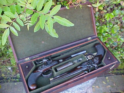 Cased Set of English Flintlock Officer's/Dueling Pistols by, FOREST, OXFORD used in AMC Network's Show TURN, #2988 Firearms
