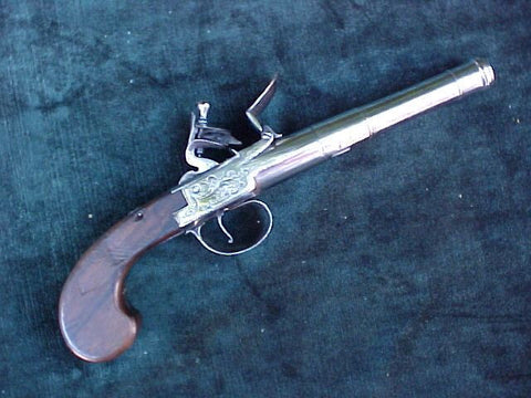 English Boxlock Flint Pistol by; PENDRILL, #2999 Firearms
