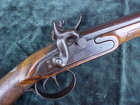 A Rare English/American Double Barrel Flintlock Fowler by SHARPE, LONDON