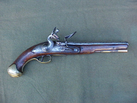 Ex. Rare British Military Pattern 1759 Light Dragoon Flintlock Pistol by Contractor GRICE, #3133 Firearms