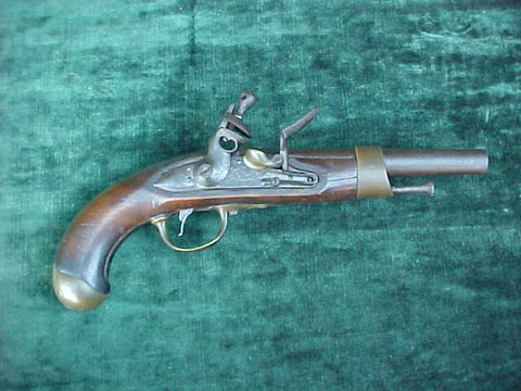 A Good French Military Model Year 'An XIII' Flintlock Service Pistol, #3214 Firearms