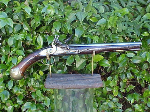 British Royal Navy Long Flintlock Sea Service Pistol, TOWER, #334 Firearms
