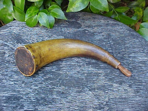 American Colonial Powder Horn, #476 Powder Flasks
