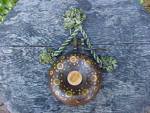Ornate German Circular Wheel -Lock Powder Flask, #511
