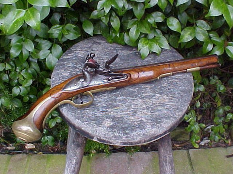 British Military Heavy Dragoon Pattern Type II Flintlock Pistol, JORDAN, 1761, #586 Firearms