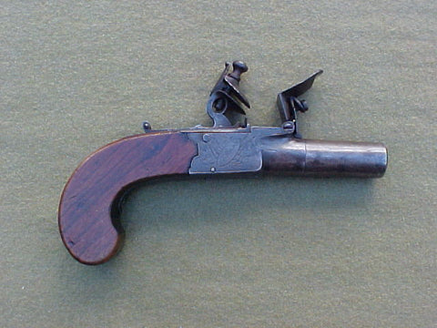 A Small English Box-Lock Flint Pistol, WILKES, LONDON, #629 Firearms