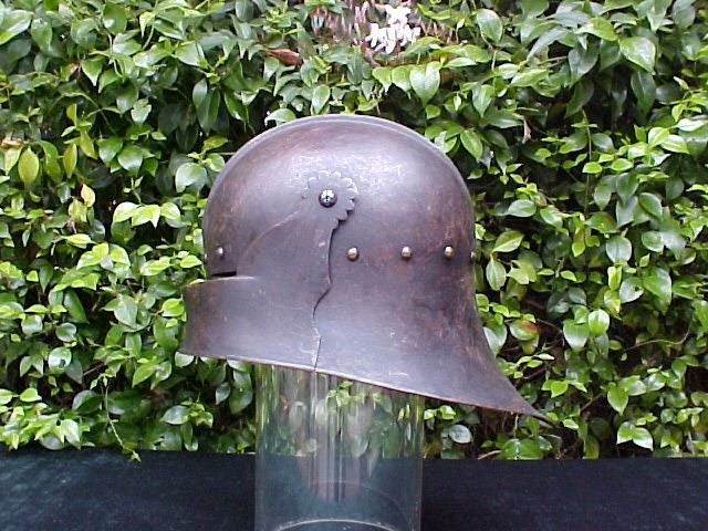 A Victorian COPY of a 15th Century German Gothic SALLET Helmet #868 -  Tortuga Trading