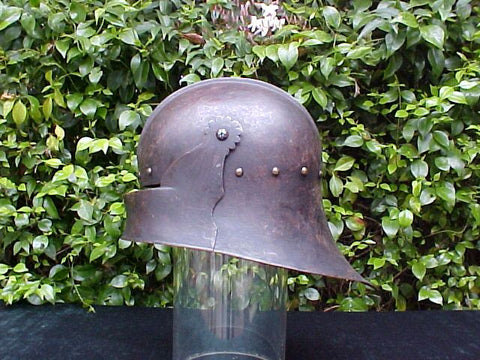 A Victorian COPY of a 15th Century German Gothic SALLET Helmet #868