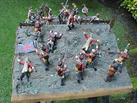 Revolutionary War Diorama, BATTLE OF BUNKER HILL, #934 Militaria