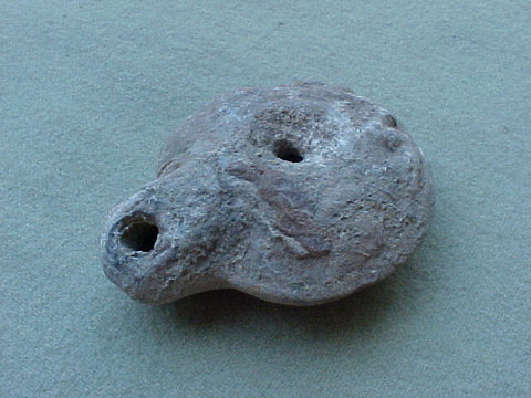 Ancient Roman / Holy Land Oil Lamp. #951 Ancient Oil Lamp