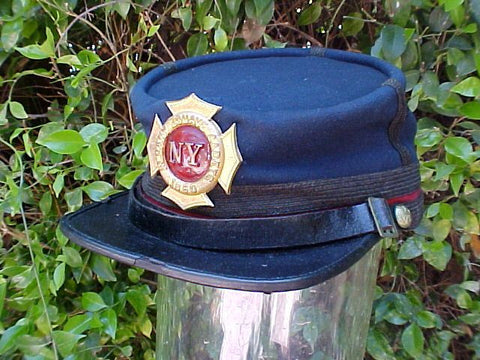 Civil War Albany, NEW YORK Zouave Cadet's Kepi, #963 Militaria