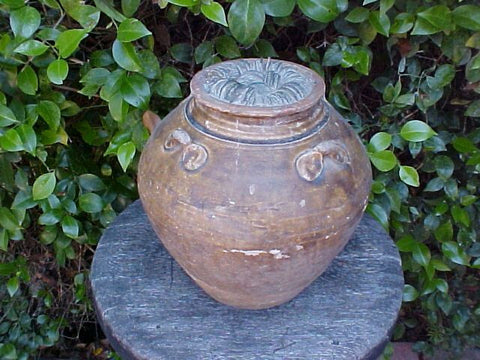 Ceramic Jar Filled w/Bronze Chinese Coins in a Conglomerate, #990 Treasure Artifacts
