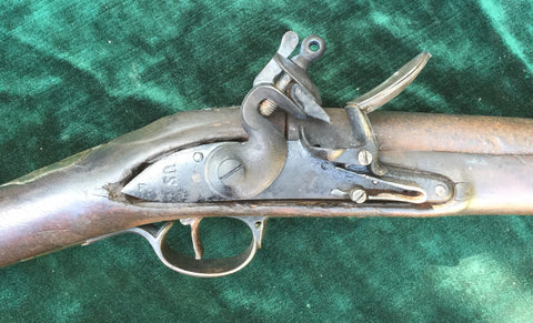 Rare Captured British 2nd Model Brown Bess Flintlock Service Musket