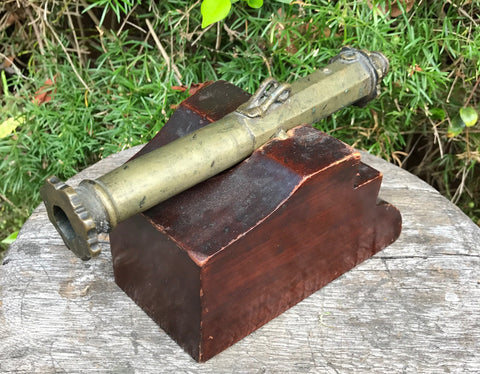 A Good Small Bronze/Brass LANTAKA Swivel Cannon