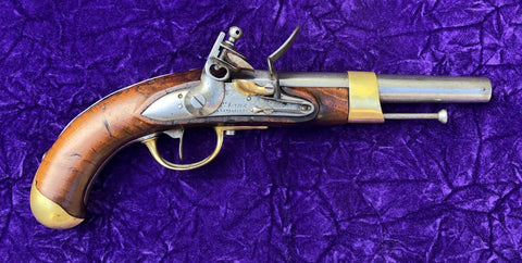 An Exceptional and Very Rare Antique French AN XIII Flintlock Pistol Mre ROYALE DE VERSAILLES