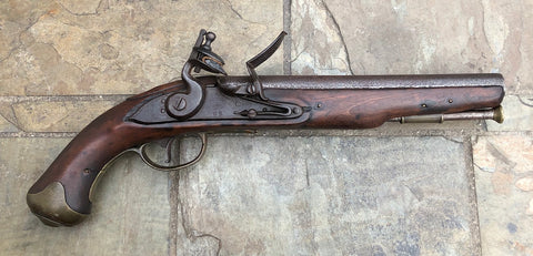 Early British Military Light Dragoon Flintlock Pistol