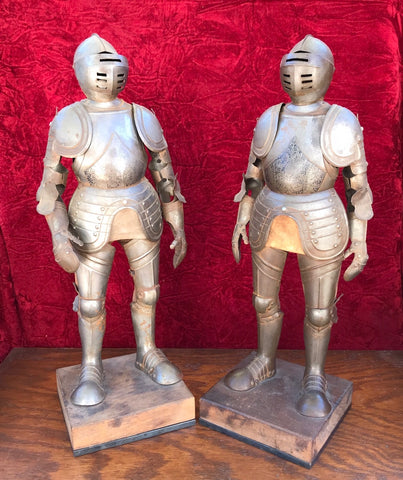 A Wonderful PAIR of 19th Century Miniature Suits of Armor
