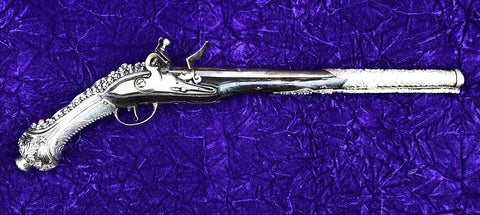A Wonderful Silver Mounted Ottoman Empire Barbary Coast Turkish Flintlock Holster Pistol