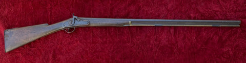 An American/English Half Stock Flintlock Hunting Gun converted to Percussion