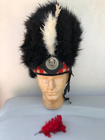 Scottish 48th HIGHLANDERS OF CANADA Feather Bonnet