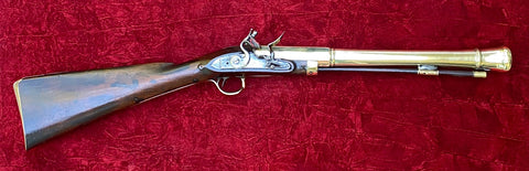 A Good English/Irish Brass Barrel Flintlock Blunderbuss by, MORTON, DUBLIN