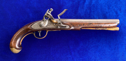 American WAR OF 1812 US Navy Model 1808 Contract Flintlock Ship's Pistol by, S. NORTH