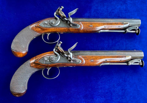 A Wonderful Cased Set of Musket Bore English Officer's/Dueling Pistols by T. RICHARDS, LONDON