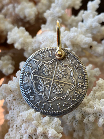 Spanish Old World Silver 2 Reales Dated 1719