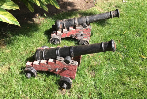 A Fantastic (PAIR) of Early 18th Century Iron Ship's Cannon