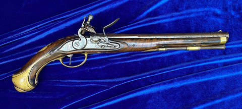 A Fine Large Dutch or German Military Flintlock Holster Pistol, circa. 1720-1740.