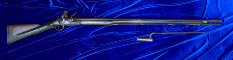 A Very Interesting Revolutionary War Period British 2nd Model Brown Bess Flintlock Service Musket with Boyonet