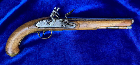 A British/American War of 1812 Period Flintlock Pistol by T. BOLTON & Co.