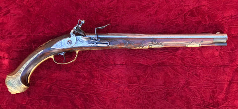 Fantastic German Flintlock Holster Pistol by, GEORG ADAM MANN, IN EBERSCHWANG