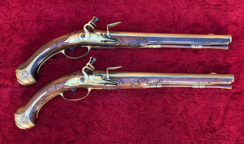 A Stunning PAIR of Dutch Flintlock Holster Pistols