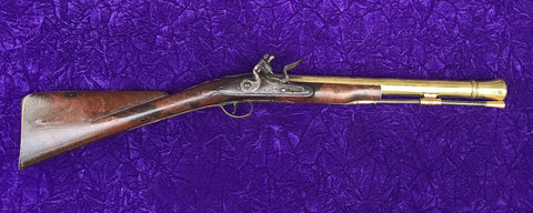 British Brass Barrel Flintlock Blunderbuss by WILSON, LONDON